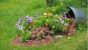 Arajnjament floral -vas rasturnat